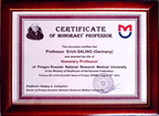 Honorary Professorship of the Pirogov Russian National